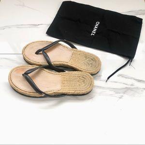 Authentic Chanel Espadrille Sandals